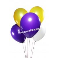 Бело-Фиолетово-Желтые Пастель 35 см
