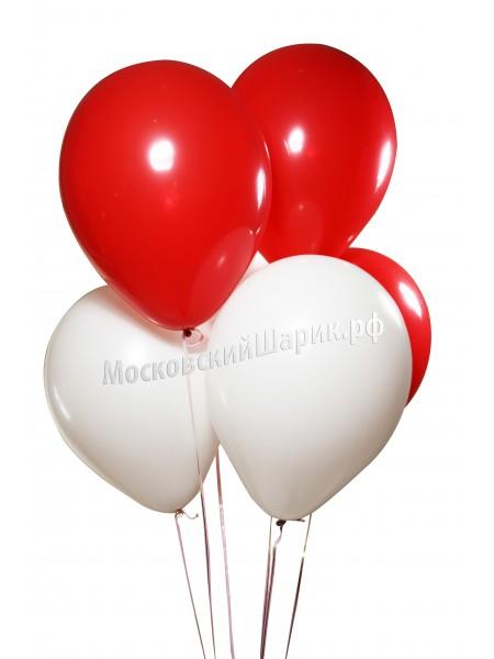 Бело-Красные Пастель 35 см