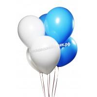 Бело-Голубые Пастель 35 см