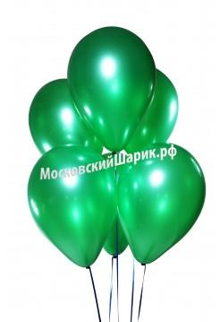 Зеленые металлик с гелием 1 шт