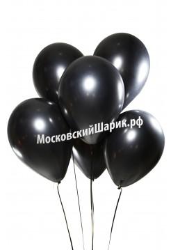 Шары Черные Пастель 35 см