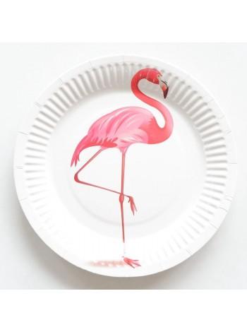 """Бумажные тарелки """"Фламинго"""""""
