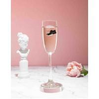 Бокал для шампанского с мужской туфлей