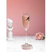 Бокал для шампанского с туфелькой женской