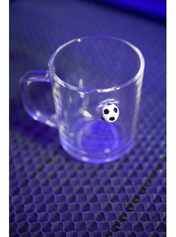 Стакан для чая с футбольным мячом
