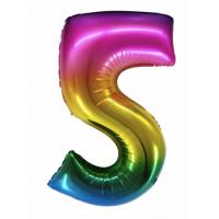 Радужная цифра 5 с гелием