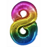 Радужная цифра 8 с гелием