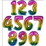 Радужные шар цифры