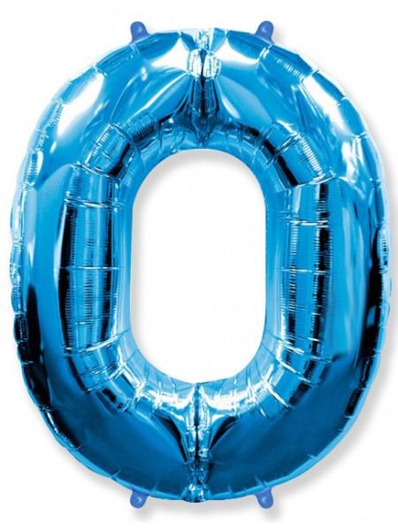 Синяя Цифра 0 / 91 см