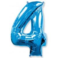 Синяя Цифра 4 / 91 см