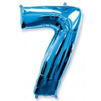 Синяя Цифра 7 / 91 см