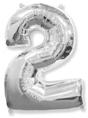 Серебряная цифра 2