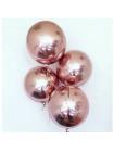 Сфера розовое золото с гелием