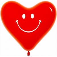 Сердце 30 см Смайл, Красный, кристалл