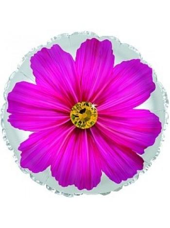 Шар с фиолетовым цветком