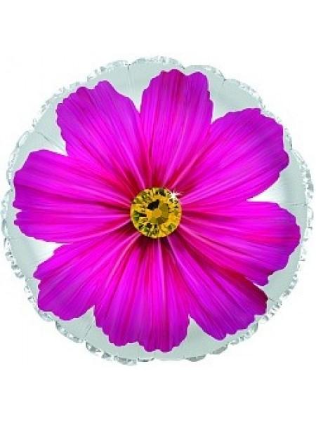 Шарик с фиолетовым цветком и гелием