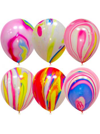Мраморные воздушные шары с гелием № 1