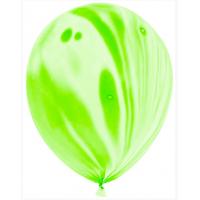 Мраморный воздушный Шар с гелием Зеленый Агат 30 см - 1 Штука