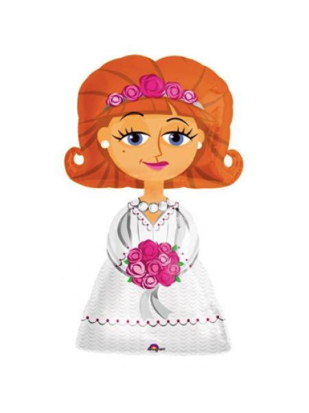 Фигура Невесты из фольги с гелием, 127х66 см