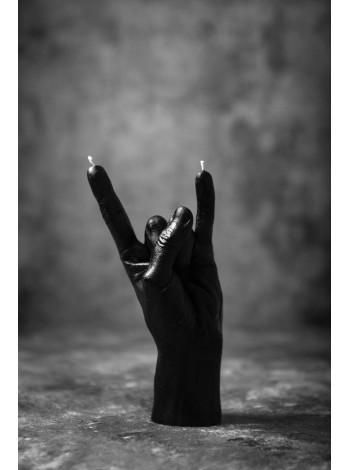 """Cвеча """"Rock"""" в форме руки (черный цвет)"""