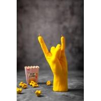 """Cвеча """"Rock"""" в форме руки (желтый цвет)"""