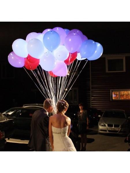 Светящиеся воздушные шары на свадьбу 1 шт