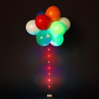 Светящиеся воздушные шары на ленте Ассорти 1 шт