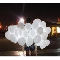Белые светящиеся воздушные шарики 1 шт