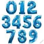 Синие фольгированные шары Цифры