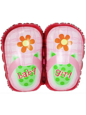 Шар из фольги туфельки для девочки