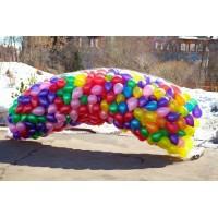 Запуск 200 воздушных шаров в небо