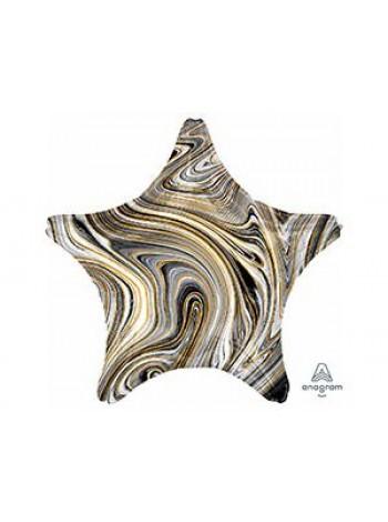 Шар звезда черный мрамор